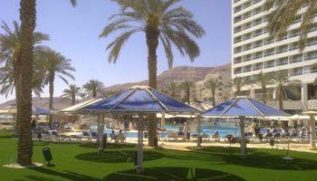 דשא סינטטי במלון בים המלח