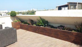 עיצוב גינות גג רמת גן