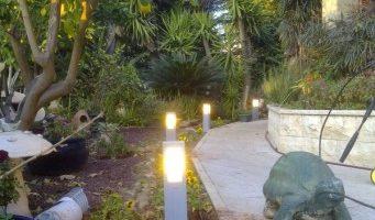 עמודי תאורת גן