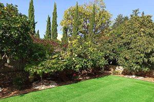 גינה מעוצבת עם דשא סינתטי